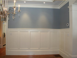 ... Custom Wainscot, Chair Rail, And Crown Moulding